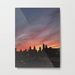 philadelphia skyline at sunset Metal Print