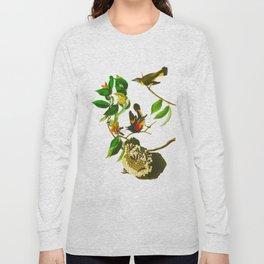 Vintage Scientific Bird & Botanical Illustration Long Sleeve T-shirt