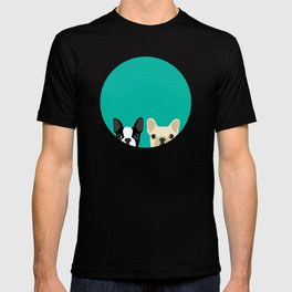 Boston Terrier & French Bulldog 2 T-shirt