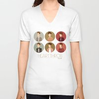 tegan and sara V-neck T-shirts featuring Tegan and Sara: Heartthrob collection by Cas.