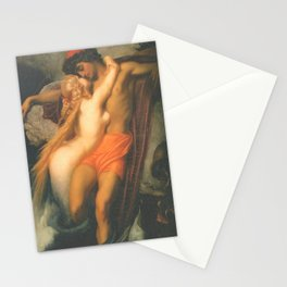 Syren and a Fisherman by Frederic Leighton Stationery Cards