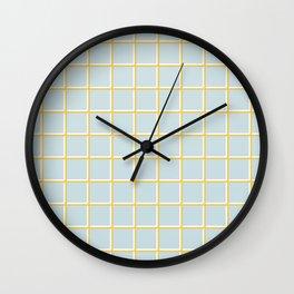 MINIMAL GRID BLUE Wall Clock