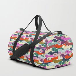 colored doggie pattern Duffle Bag