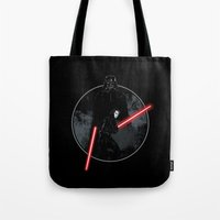 sith Tote Bags featuring Sith Uprising by Steven Toang