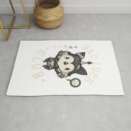 Kawaii Bad Luck Black Cat - Pastel Goth Creepy Cute Gift T-Shirt Rug