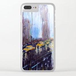Night New York Clear iPhone Case