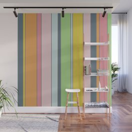 Soft seventies stripes Wall Mural