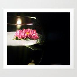 A Glass of Flower Art Print