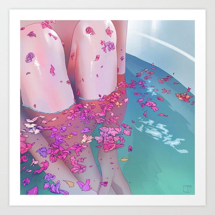 Flower Bath 4 Art Print