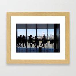 VIEW FROM THE TATE MODERN LONDON UK Framed Art Print