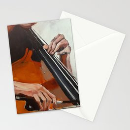 The Bassist Stationery Cards