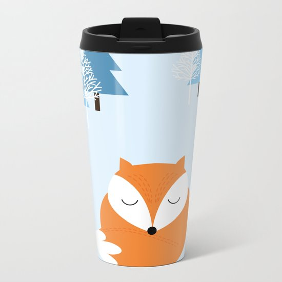 Sweet dreams with fox Metal Travel Mug