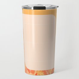 Mid-Century Tropical Orange Style #society6 #tropical Travel Mug
