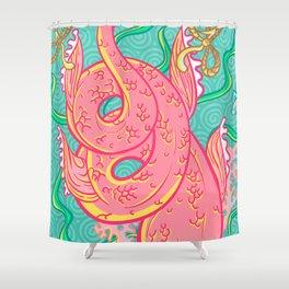 Mermaid pink tail Shower Curtain