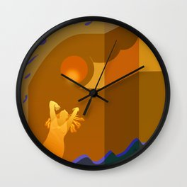 Golden Moments Wall Clock