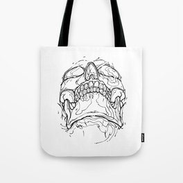 Carnibal / Ink Skull / Black Tote Bag