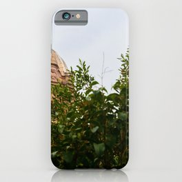 Aerial scenic view of Rome, Italy. Scenery of Roma city. iPhone Case