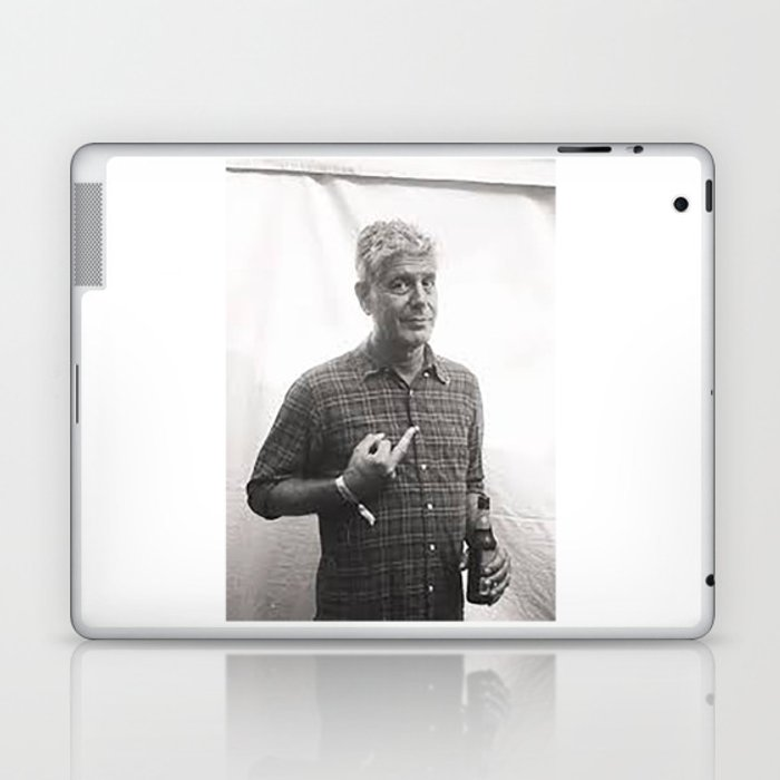 Anthony Bourdain Middle Finger Laptop & iPad Skin