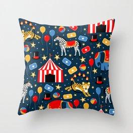 Under the Big Top Throw Pillow