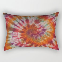 Tie Dye Rainbow Spiral Galaxy Rectangular Pillow