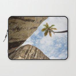 Virgin Gorda Batholithic Boulders and a Sunny Palm Tree Laptop Sleeve