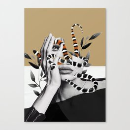 Woman and snakes Canvas Print