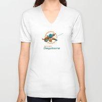 nfl V-neck T-shirts featuring Miami Degobans - NFL by Steven Klock