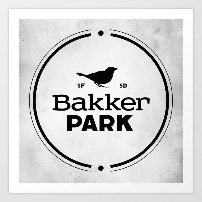 Bakker Park Art Print