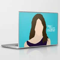himym Laptop & iPad Skins featuring Robin Scherbatsky HIMYM by Rosaura Grant