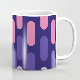 Colourful lines on navy background Coffee Mug