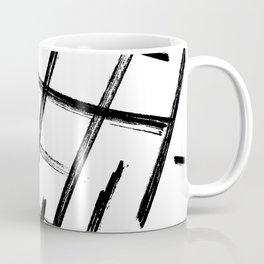 Criss Cross B+W Print Coffee Mug