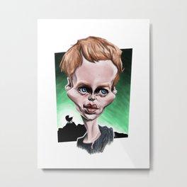 Mia Farrow - Original Caricature Metal Print
