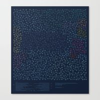 constellations Canvas Prints featuring Constellations by datavis/pwowk