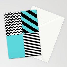 Blue B&W Stationery Cards