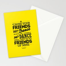 One Hit Wonder- Safety Dance in Yellow Stationery Cards