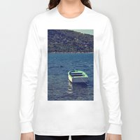boat Long Sleeve T-shirts featuring boat by gzm_guvenc