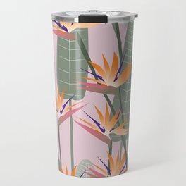Bird of Paradise - pink Travel Mug