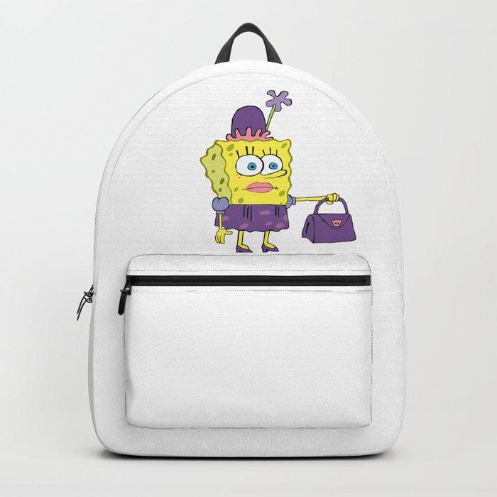SpongeBob in drag meme Backpack
