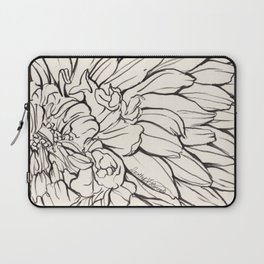 Dahlia Ink illustration Laptop Sleeve