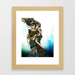 Astrology Illustration series-Gemini Framed Art Print