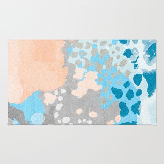 Minimalist Colorful Rug Designs: Painted Minimal Bright Summer Palette Boho