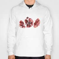 pomegranate Hoodies featuring Pomegranate  by Sam Luotonen