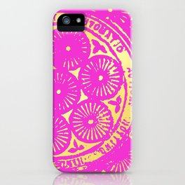 power of one: hot pink & gold iPhone Case
