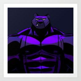 Killer Panther Wrestler! Art Print
