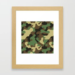 Classic Camouflage Pattern Framed Art Print