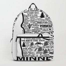 Minnesota Map Backpack