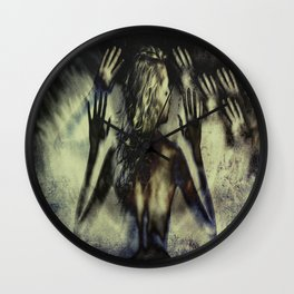 Gathering of Hands Wall Clock