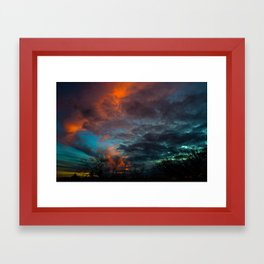 Amazing Sunset Tucson, Arizona  Framed Art Print