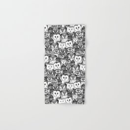 just owls black white Hand & Bath Towel