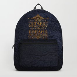 To the stars who listen Backpack